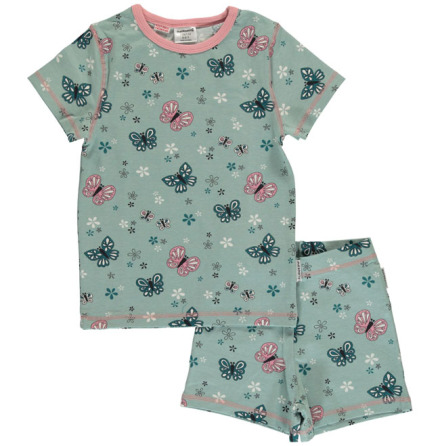 Maxomorra Pyjamas Set SS Butterfly