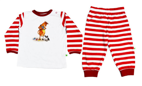 Sture & Lisa Mamma Mu Pyjamas Set Red