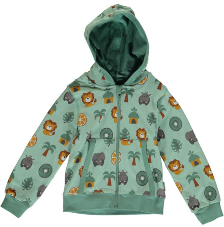Maxomorra Cardigan Hood Jungle