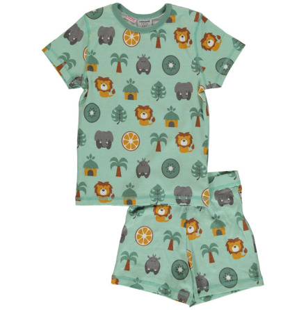 Maxomorra Pyjamas Set SS Jungle