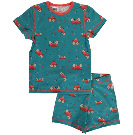 Maxomorra Pyjamas Set SS Crab