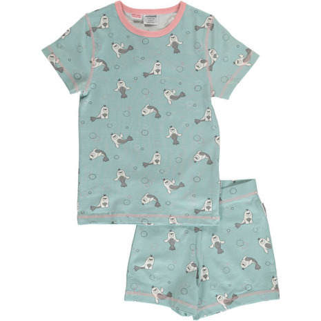 Maxomorra Pyjamas Set SS Seal