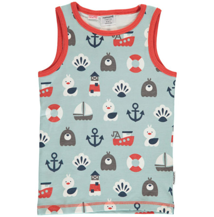 Maxomorra Tank Top Blue Ocean