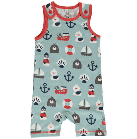 Maxomorra Playsuit Blue Ocean