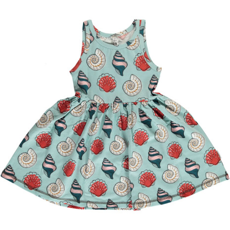 Maxomorra Dress Spin Seashell