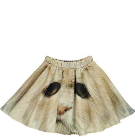 Popupshop Base Skirt White Cat