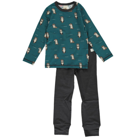 Maxomorra Pyjamas Set LS Curious Otter