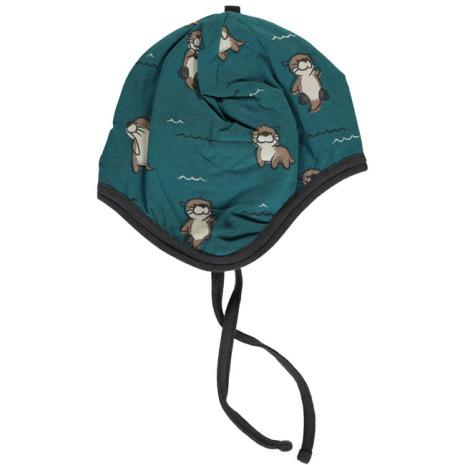 Maxomorra Hat Helmet Velour Curious Otter