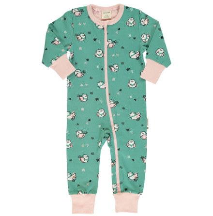 Maxomorra Rompersuit LS Little Sparrow