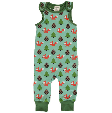 Maxomorra Playsuit Busy Squirrel