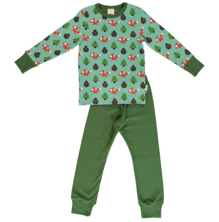 Maxomorra Pyjamas Set LS Busy Squirrel