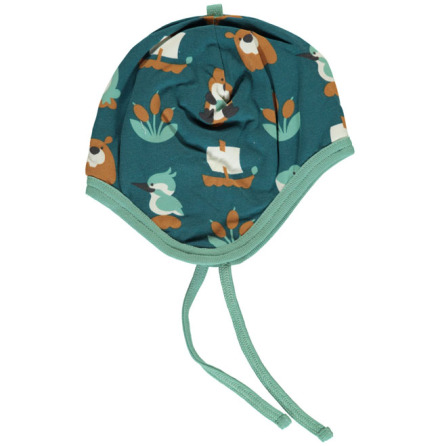 Maxomorra Hat Helmet Velour Lake Life