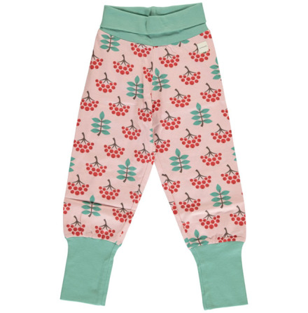 Maxomorra Rib Pants Ruby Rowanberry