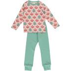 Maxomorra Pyjamas Set LS Ruby Rowanberry