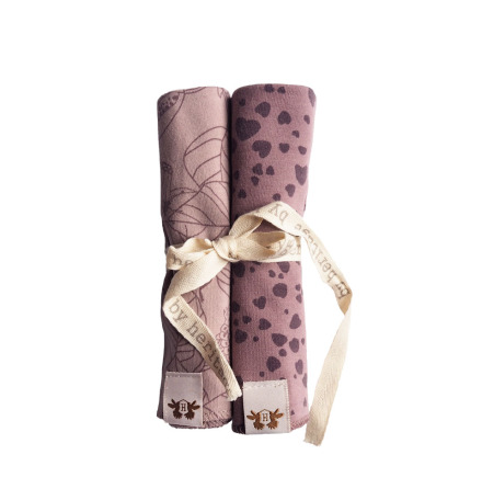 Mini blankets 2 pack Pink Plum