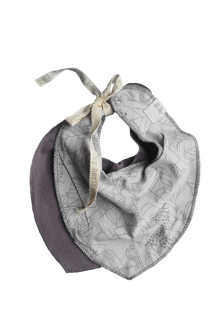 By Heritage Sven Bib 2-pack print grey