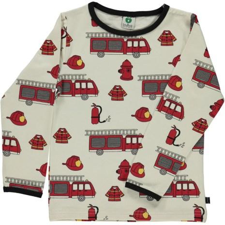 Småfolk T-shirt LS Fire Truck