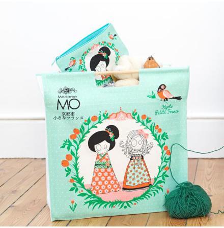 Madame Mo - Shopping bag Green