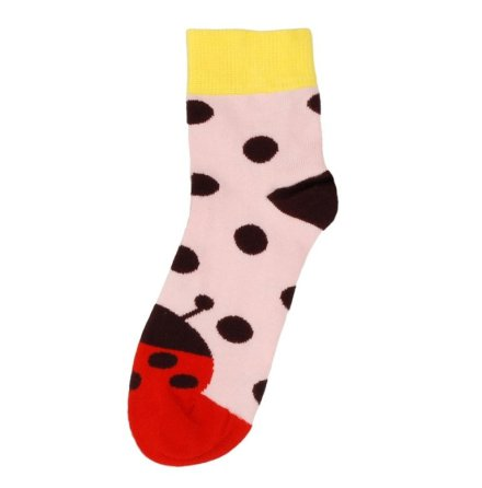 Duns Sock Ladybug Pink