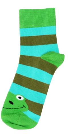 Duns Sock Frogs Green