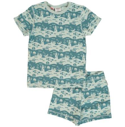 Maxomorra Pyjamas Set SS Ocean Landscape