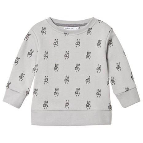 One We Like Grey Peace Sweatshirt