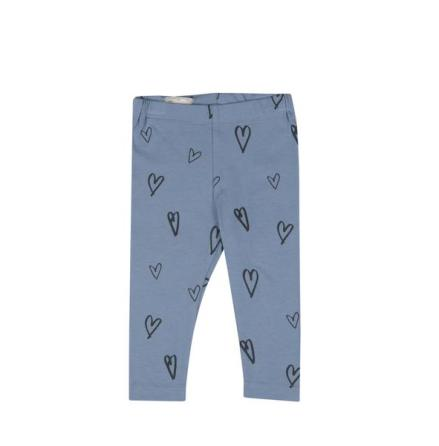 One We Like Leggings Hearts Faded denim