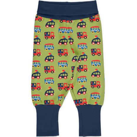 Maxomorra Rib Pants Colorful Cars