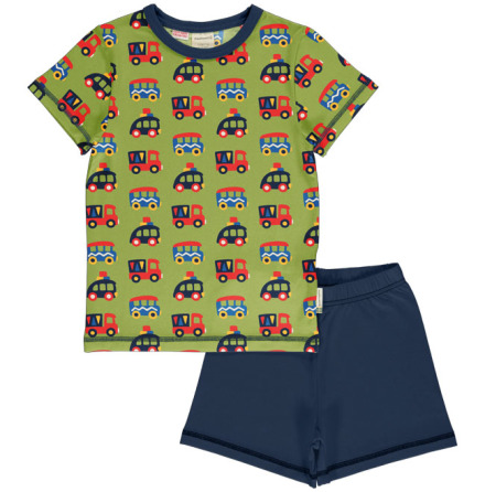 Maxomorra Pyjamas Set SS Colorful Cars