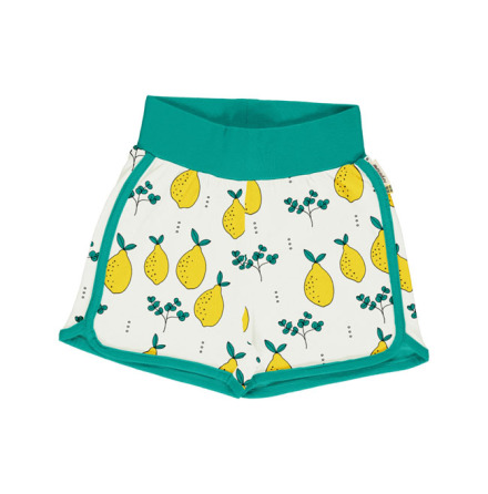 Maxomorra Runner Shorts Leafy Lemon