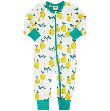 Maxomorra Rompersuit LS Leafy Lemon