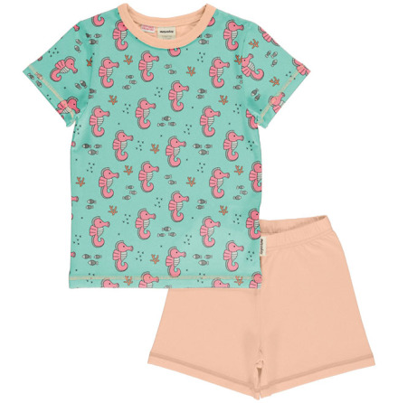 Maxomorra Pyjamas Set SS Sea Horses