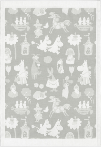 Ekelund Barnfilt Moomin Valley Grey