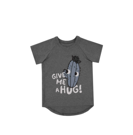 Dear Sophie Grey Cactus T-shirt