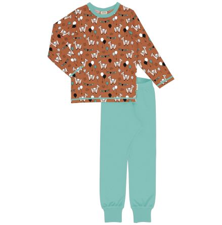Maxomorra Pyjamas Set LS Camel Party