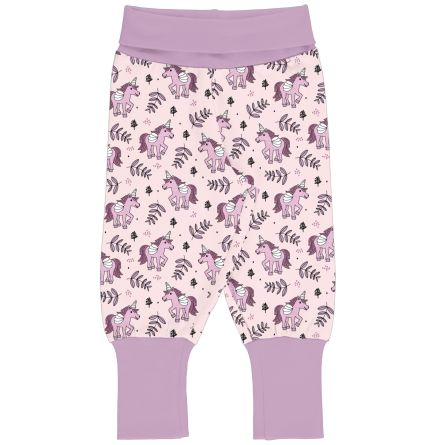 Maxomorra Rib Pants Unicorn Jungle