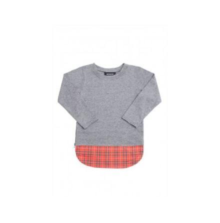 Minikid LS Top Grey/Red
