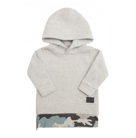 Minikid Hoodie Grey/Camo