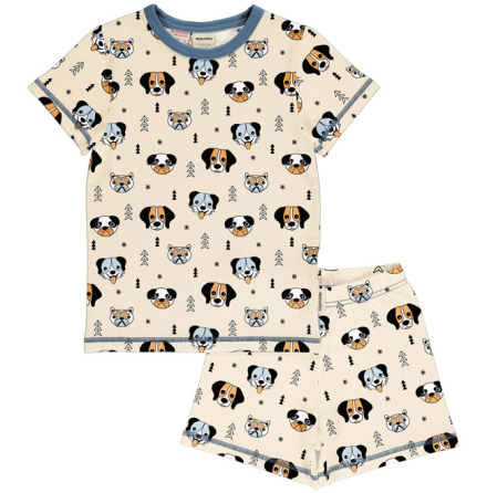 Maxomorra Pyjamas Set SS Happy Dogs