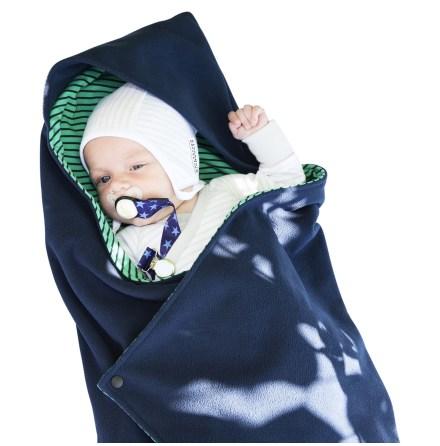 Geggamoja Wraparound Blanket Fleece Green