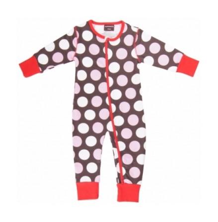 Maxomorra Pyjamas Polkadot brown