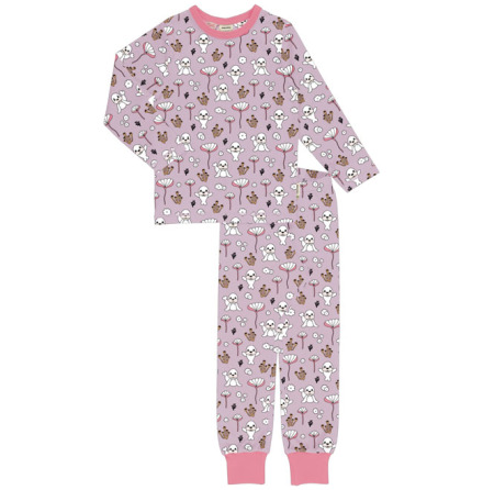 Maxomorra Pyjamas Set LS Coral & Seal