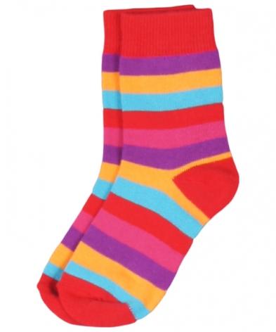 Maxomorra Socks Multired Stripe