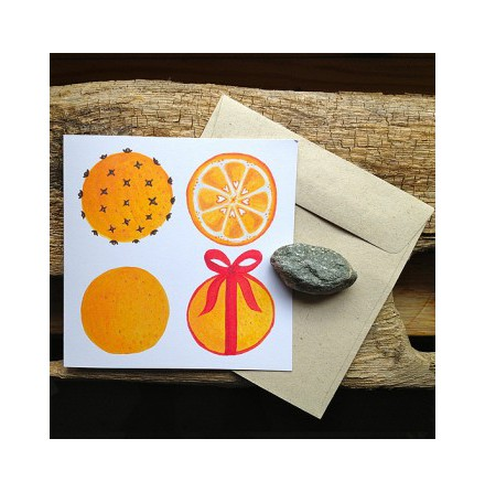 Kort Julapelsiner