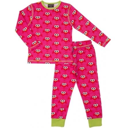 Maxomorra Pyjamas Set Bird Red