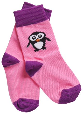 Maxomorra Socks Penguin Pink 2-pack