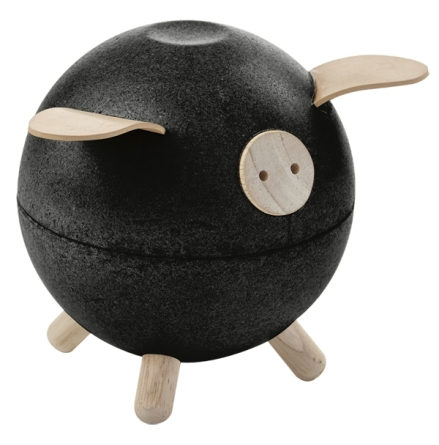 Plan Toys Piggy Bank Black Set