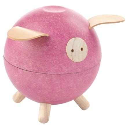Plan Toys Piggy Bank Pink Set