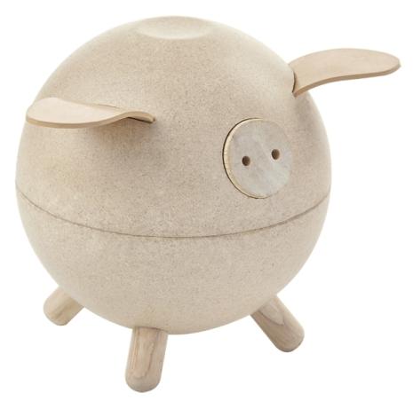 Plan Toys Piggy Bank White Set