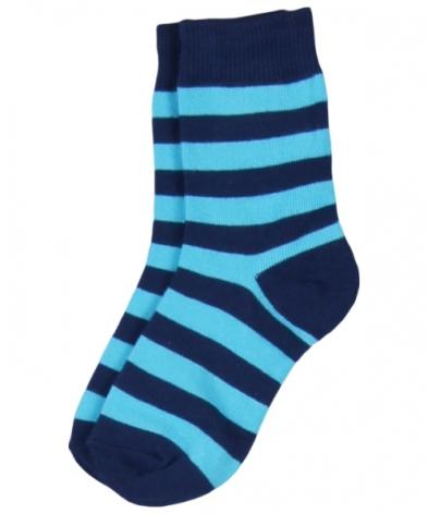 Maxomorra Socks Petrol/Turquoise Stripe